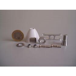 Cono Autoventilado Helice plegable 30 mm ø / eje 3.2 mm
