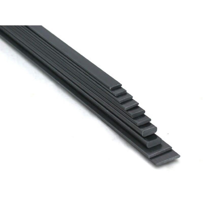 Varilla plana fibra de carbono de 10 x 0.5 mm