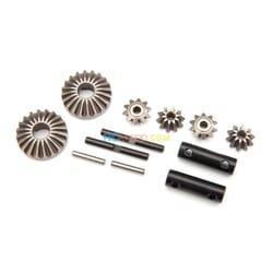 Gear set differential (output gears (2)/ spider gears (4)/ spider gear shaft (2