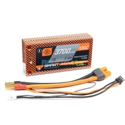 3700mAh 2S 7.4V 100C Smart LiPo Short HC 5mm Tubes