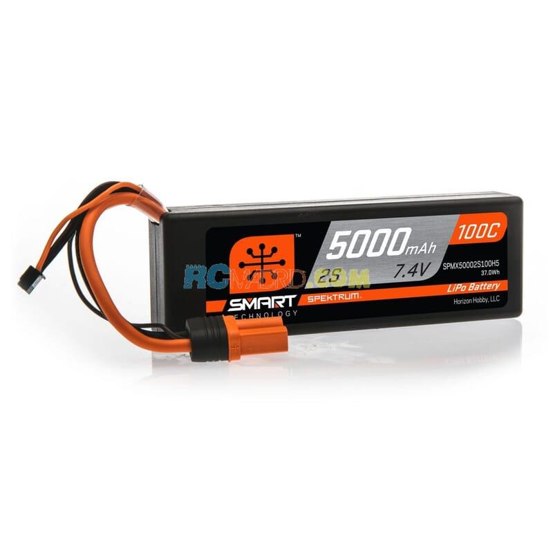 5000mAh 2S 7.4V 100C Smart LiPo caja dura  IC5