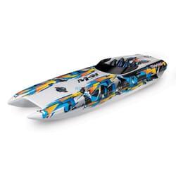 Traxxas DCB M41 Catamaran Race Boat TQi TSM, Naranja, TRX57046 4O