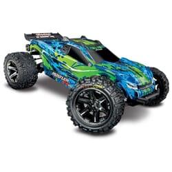 Traxxas Rustler 4X4 VXL TQi TSM (no bateria ni cargador), Verde, TRX67076 4G
