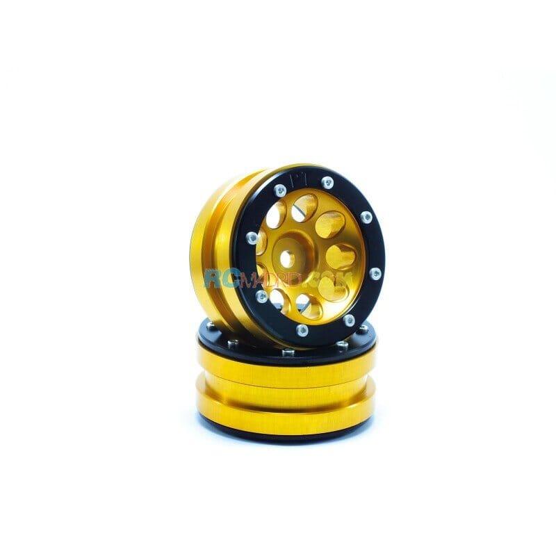 LLantas de Aluminio Beadlock PT-Ecohole Dorada/Negra 1.9 (2 uds.)