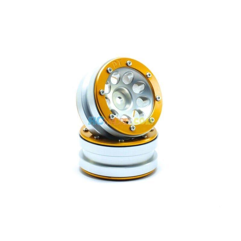 LLantas de Aluminio Beadlock PT-Ecohole Plata/Dorada 1.9 (2 uds.)