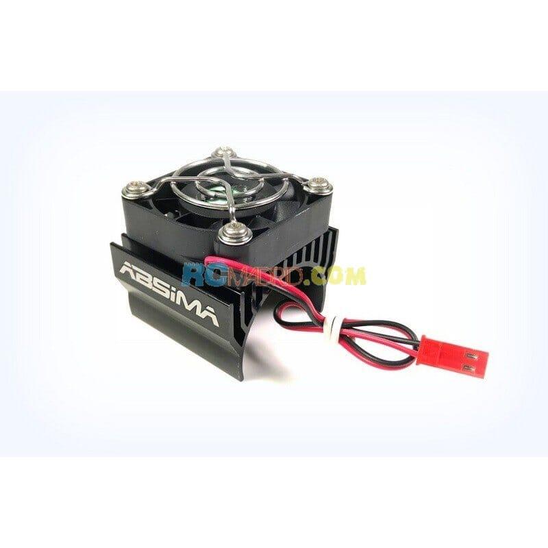 Disipador Motor 1:8 hasta Ø40 mm Negro con Ventilador